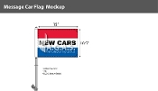 New Cars Premium Car Flags 10.5x15 inch (Red, White & Blue)