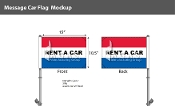 Rent A Car Premium Car Flags 10.5x15 inch (Red, White & Blue)