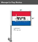 RV's Car Flags 12x16 inch (Red, White & Blue)