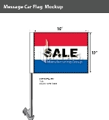 Sale Premium Car Flags 10.5x15 inch (Red, White & Blue)