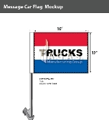 Trucks Car Flags 12x16 inch (Red, White & Blue)