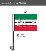 Autos Nuevos Car Flags 12x16 inch (Green, White & Red)