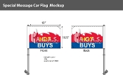 Hot Buys Premium Car Flags 10.5x15 inch