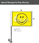 Smiley Face Car Flags 12x16 inch