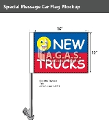 New Trucks Smiley Car Flags 12x16 inch