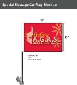Holiday Sale Car Flags 12x16 inch
