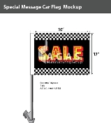 Checkered Sale Car Flags 12x16 inch (Black, Yellow & Red)