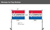 Buy American Premium Car Flags 10.5x15 inch (Red, White & Blue)