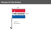 Now Leasing Premium Car Flags 10.5x15 inch (Red, White & Blue)