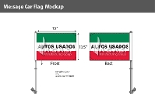 Autos Usados Premium Car Flags 10.5x15 inch (Green, White & Red)