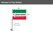 Financiamos Premium Car Flags 10.5x15 inch (Green, White & Red)
