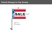 Patriotic Sale Premium Car Flags 10.5x15 inch