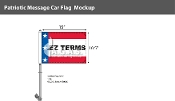 Patriotic EZ Terms Premium Car Flags 10.5x15 inch