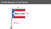 Patroitic Rent A Car Premium Car Flags 10.5x15 inch