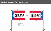 Patriotic SUV Premium Car Flags 10.5x15 inch