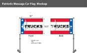 Patriotic Trucks Premium Car Flags 10.5x15 inch