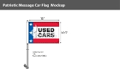 Patroitic Used Cars Premium Car Flags 10.5x15 inch