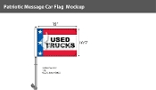 Patriotic Used Trucks Premium Car Flags 10.5x15 inch
