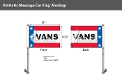 Patriotic Vans Premium Car Flags 10.5x15 inch