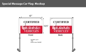 Certified Pre-Owned Premium Car Flags 10.5x15 inch (Blue)