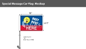 Best Buys Here Premium Car Flags 10.5x15 inch