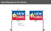 New Cars Smiley Premium Car Flags 10.5x15 inch