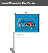 Holiday Sale with Car Car Flags 12x16 inch