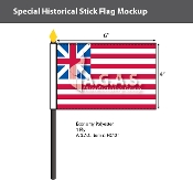 Grand Union Stick Flags 4x6 inch