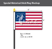 General Freemont Stick Flags 4x6 inch