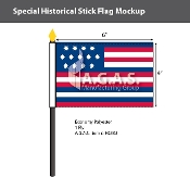 Serapis Stick Flags 4x6 inch
