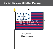 Guilford Courthouse Stick Flags 4x6 inch
