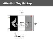 Blank Flags 12X18 inch (Choose 3 Colors)