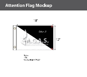 Blank Flags 12X18 inch (Choose 2 Colors)