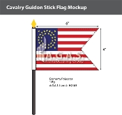 Cavalry Guidon Stick Flags 4x6 inch