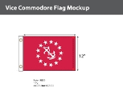 Vice Commodore Flags 12x18 inch