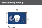 Treasurer Flags 12x18 inch