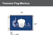 Treasurer Deluxe Flags 12x18 inch