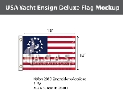 USA Yacht Ensign Deluxe Flags 12x18 inch