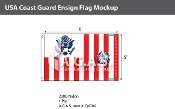 USA Coast Guard Ensign Flags 5x8 foot