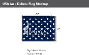 USA Jack Deluxe Flags 20x26 inch