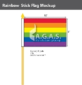"Rainbow Stick Flag 8""X12"""