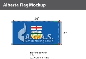 Alberta Flags 12x24 inch (Official ratio 1:2)