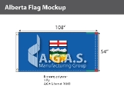 Alberta Flags 54x108 inch (Official ratio 1:2)