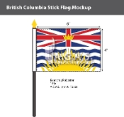 British Columbia Stick Flags 4x6 inch