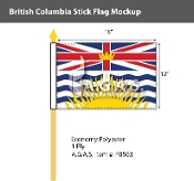 British Columbia Stick Flags 12x18 inch