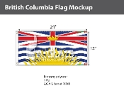 British Columbia Flags 12x24 inch