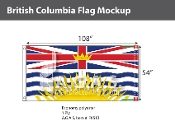 British Columbia Flags 54x108 inch