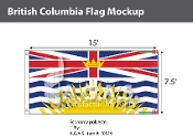 British Columbia Flags 7.5x15 foot