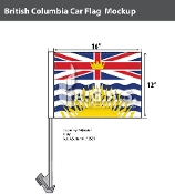 British Columbia Car Flags 12x16 inch Economy