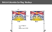 British Columbia Car Flags 10.5x15 inch Premium